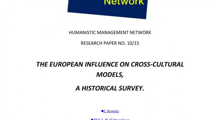 The European Influence on Cross-Cultural Models, a Historical Survey